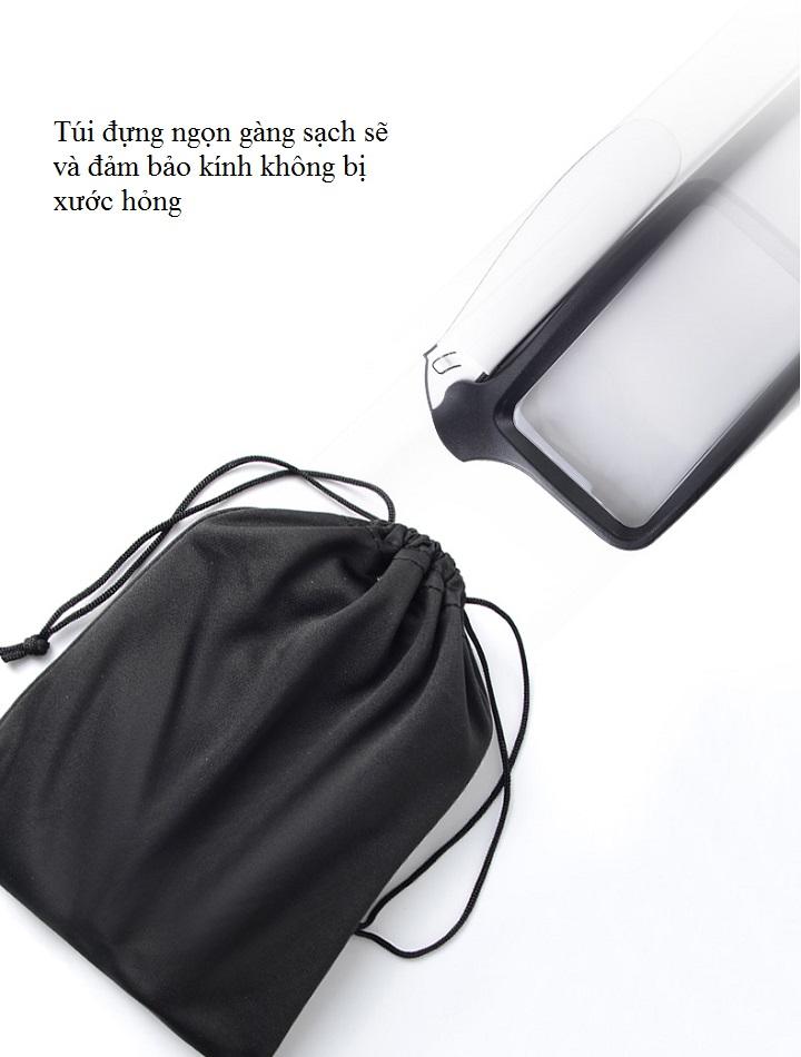 Kính lúp 2X cầm tay có đèn K10863 ( Chuyên dụng đọc sách báo, soi mạch )