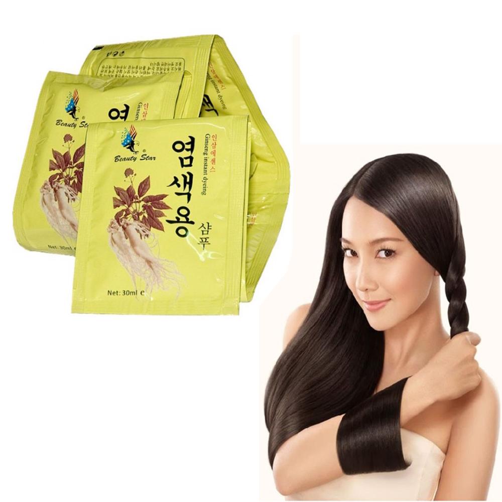 Dầu gội đen tóc thảo dược beauty star hàn quốc 30ml/gói (Combo 5)
