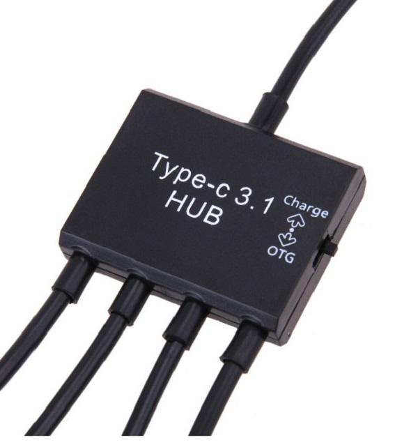 Cable OTG HUB Type C 3 đầu USB