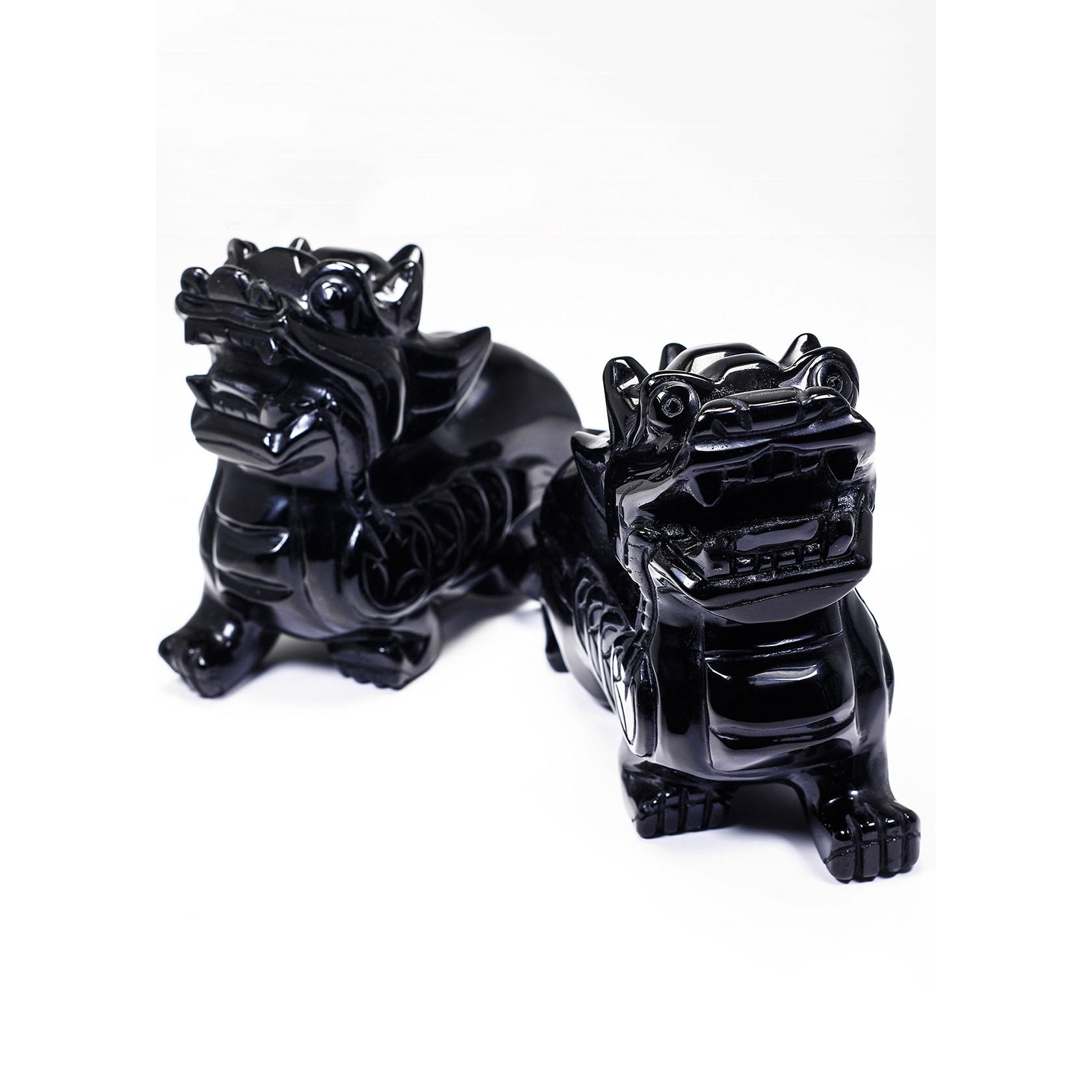 Cặp Tỳ Hưu Tektit mệnh thủy,mộc - Ngọc Quý Gemstones