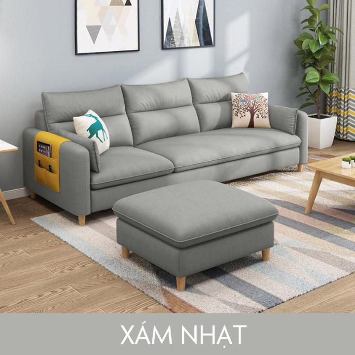 Ghế sofa góc 3 chỗ ngồi vải lanh cao cấp hình chữ L Đi văng kiểu hiện đại phù hợp cho căn hộ nhỏ KT: 210x142x78