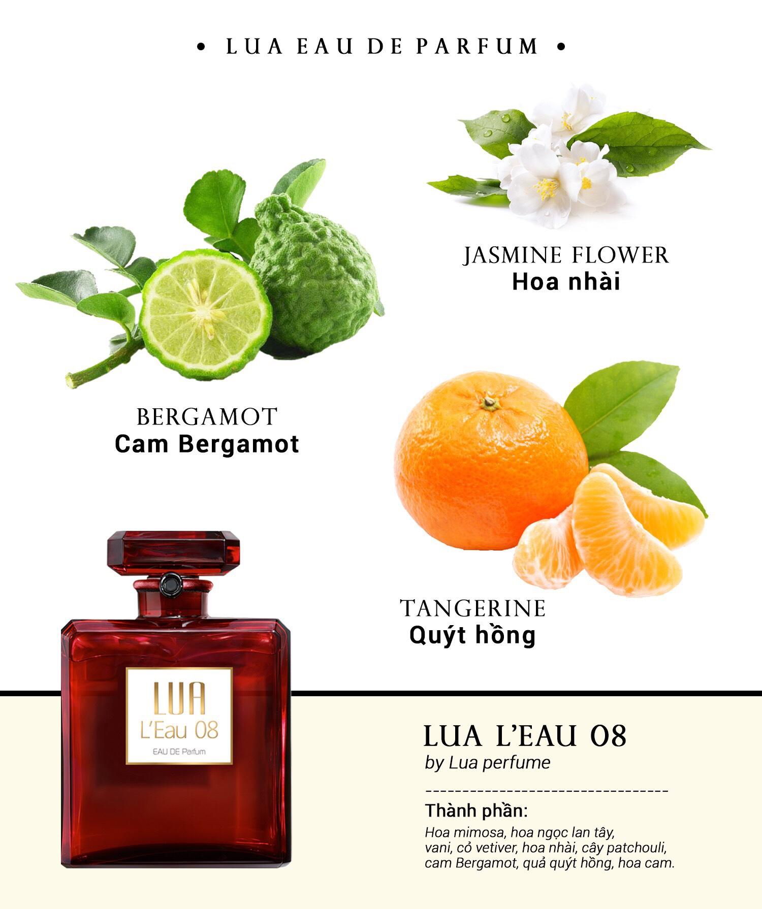 Nước Hoa LUA Perfume- Chai L'Eau08 50ml