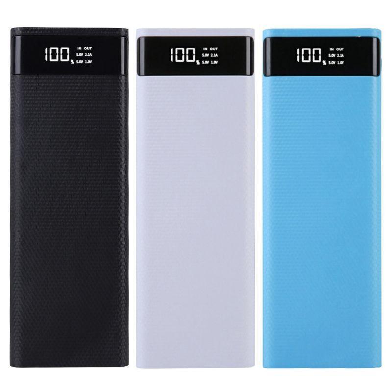 Vỏ bảo vệ pin sạc dự phòng 10 pin 18650 dung lượng cao có màn hình LCD