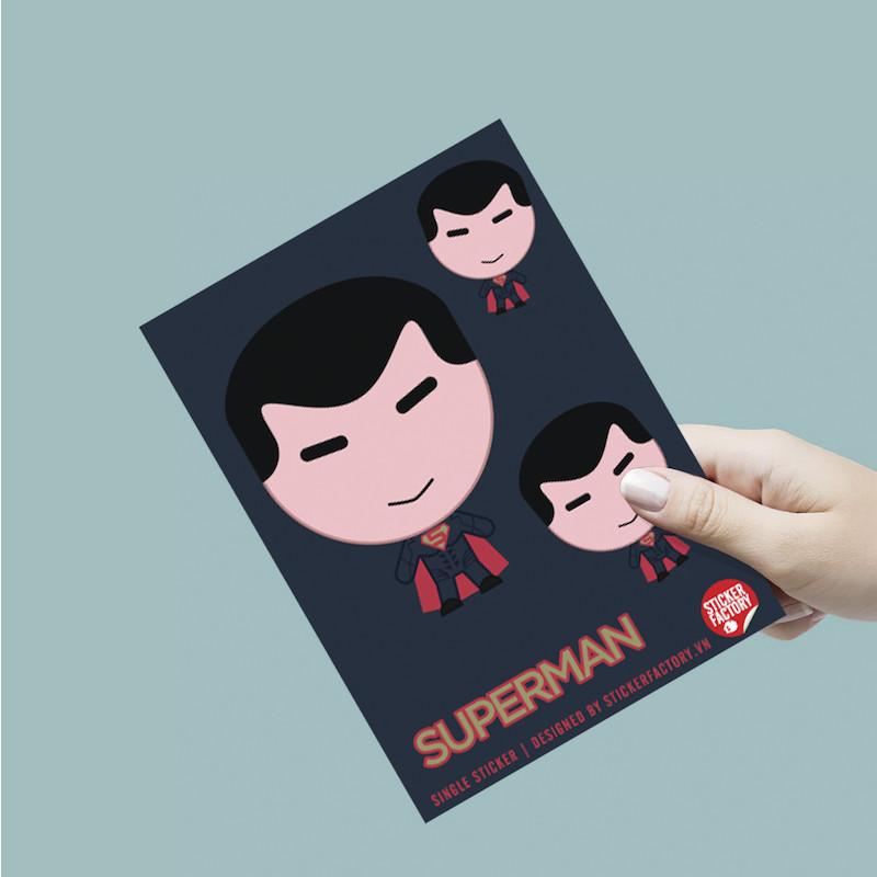 Single sticker hình dán siêu anh hùng - Siêu Nhân