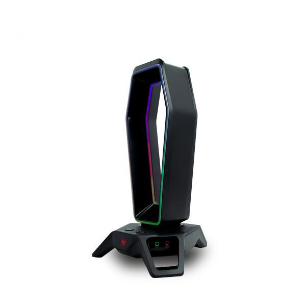 Đế Tai Nghe Gaming ZADEZ RGB ZHS-702G + Soundcard 7.1 Surround - Hàng Chính Hãng