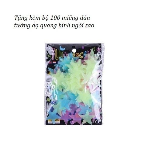 Đồng Hồ Báo Thức - Phá Tan Cơn Ác Mộng Cho Những Ai Ngủ Nướng ( Tặng kèm bộ 100 hình ngôi sao dạ quang phát sáng )