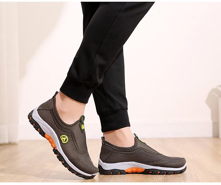 Giày lười vải nam, giày lười dáng thể thao, vải lưới thoáng mát, đế cao su nguyên khối êm, bền, ma sát cao G146