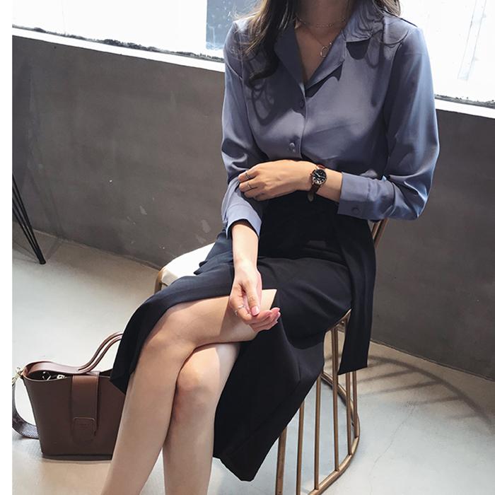 Áo sơ mi nữ công sở cổ 2 ve trẻ trung, thời trang xuân hè 2021