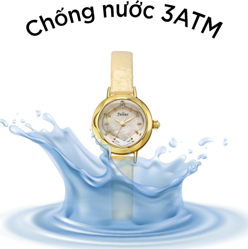 Đồng Hồ Nữ Julius Hàn Quốc JA-482 Lăng Kính 3D Dây Da