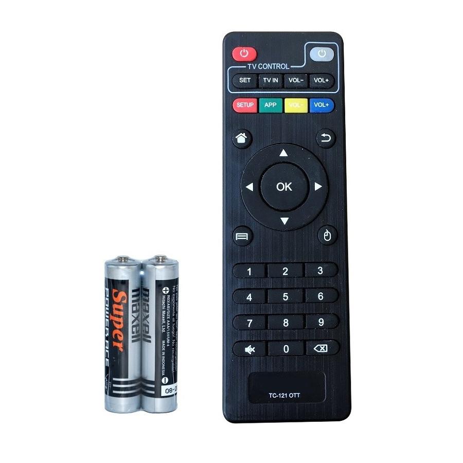 Remote Điều Khiển Cho TV BOX Android, Hộp TV Thông Minh TCTEK (Kèm Pin AAA Maxell)