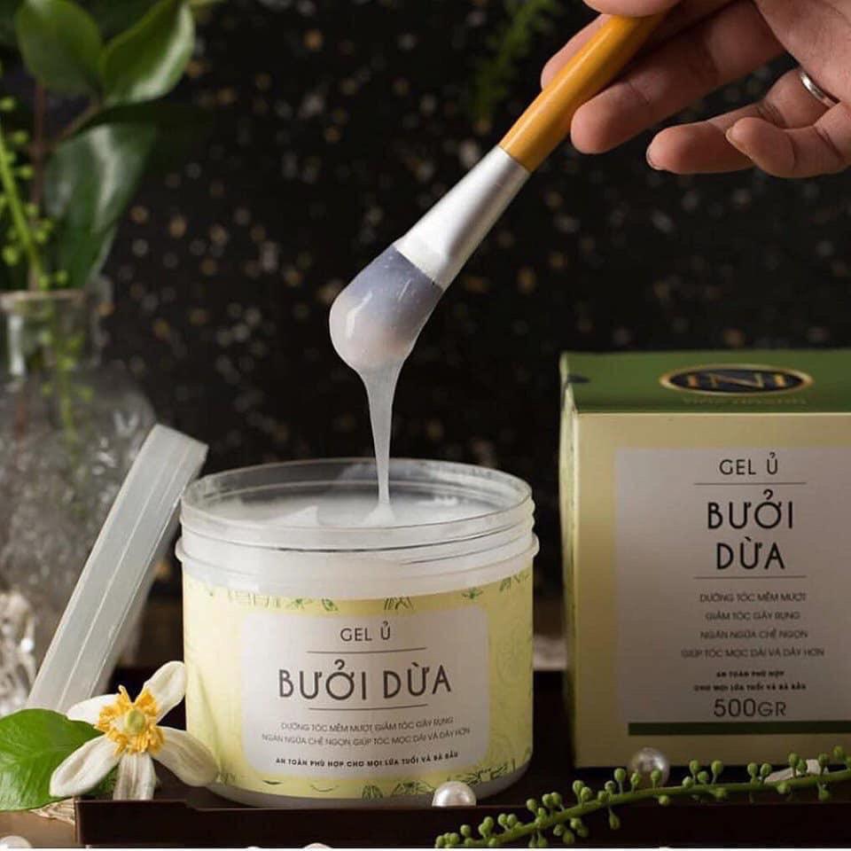 Gel ủ bưởi dừa Nga Hoàng giúp phục hồi tóc hư tổn, Giảm khô xơ,gãy rụng