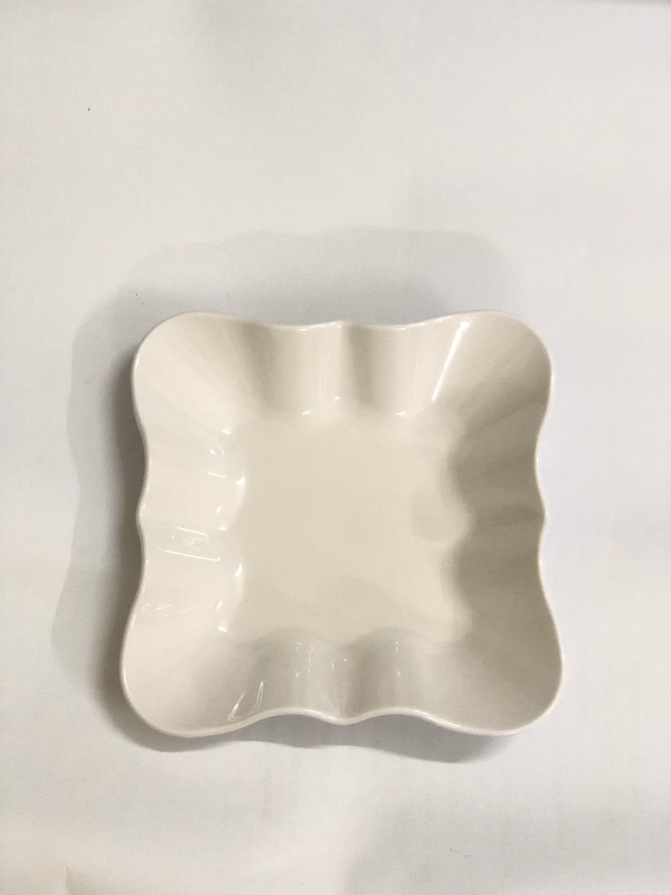 Bộ 5 đĩa nhựa vuông kiểu to cao cấp Song Long- màu ngẫu nghiên