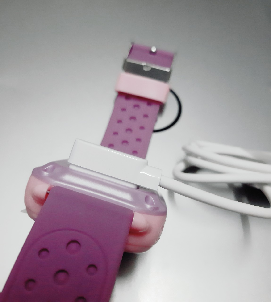 Combo Dây sạc hít nam châm dành cho đồng hồ thông minh Wonlex KT04, GW700S, KT11, KT12, A28, Q12 - Hàng chính hãng + Vòng tay may mắn RUBY