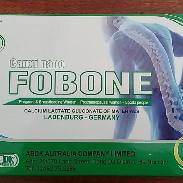 Thực phẩm bảo vệ sức khỏe Canxi Nano Fobone cho xương chắc khỏe, chống loãng xương