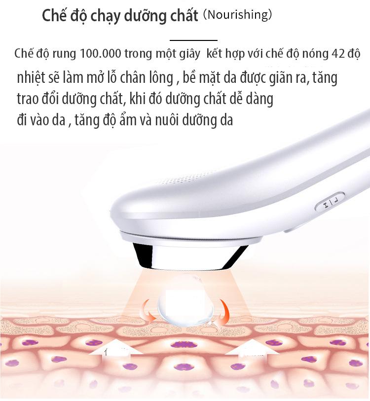 Máy chăm sóc da nóng đẩy dưỡng chất công nghệ hàn quốc BLK-D020 đi kèm bút massage mắt ( hàng nhập khẩu )