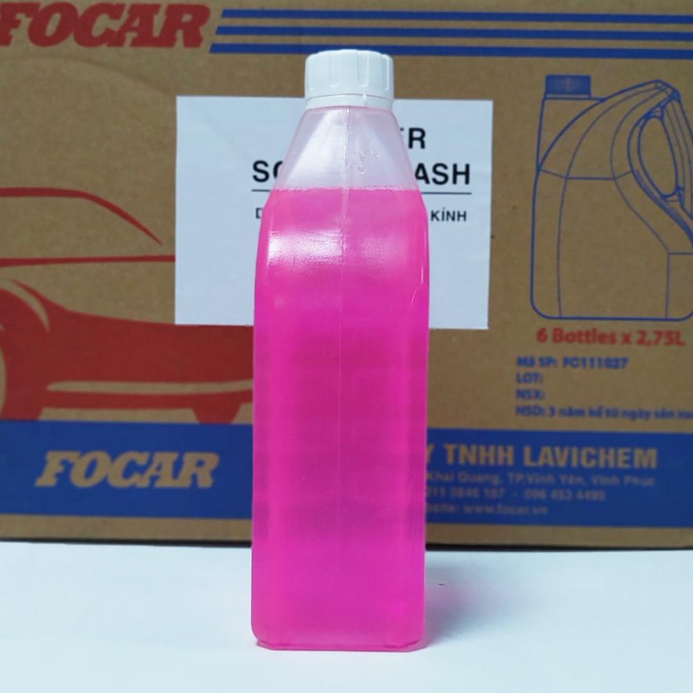 Nước rửa kính ô tô FOCAR Summer Screen Wash 850ml  Clean Clear - Nước rửa kính ô tô chống bụi, Ph trung tính, tiêu chuẩn EU bảo vệ hệ thống, nước lau kính chống xước, vệ sinh sạch 99% loại đổ trực tiếp