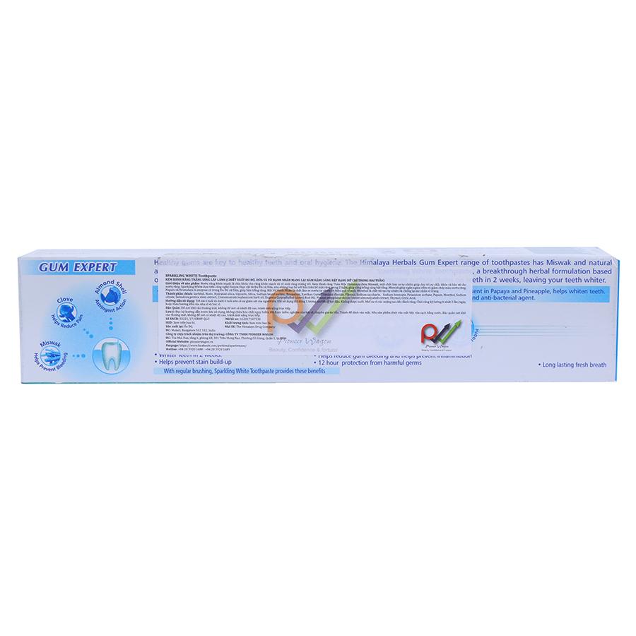 Kem Đánh Răng Trắng Sáng Lấp Lánh Sparking White Himalaya Herbals HMTP0002 (100g)