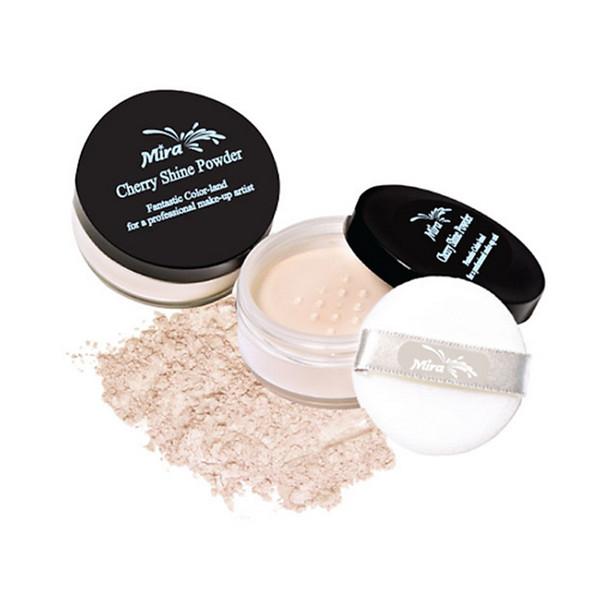 Phấn phủ bột kiềm dầu Mik@vonk Blooming Face Powder Hàn Quốc 30g NB21 # Light Beige Pearl tặng kèm móc khoá