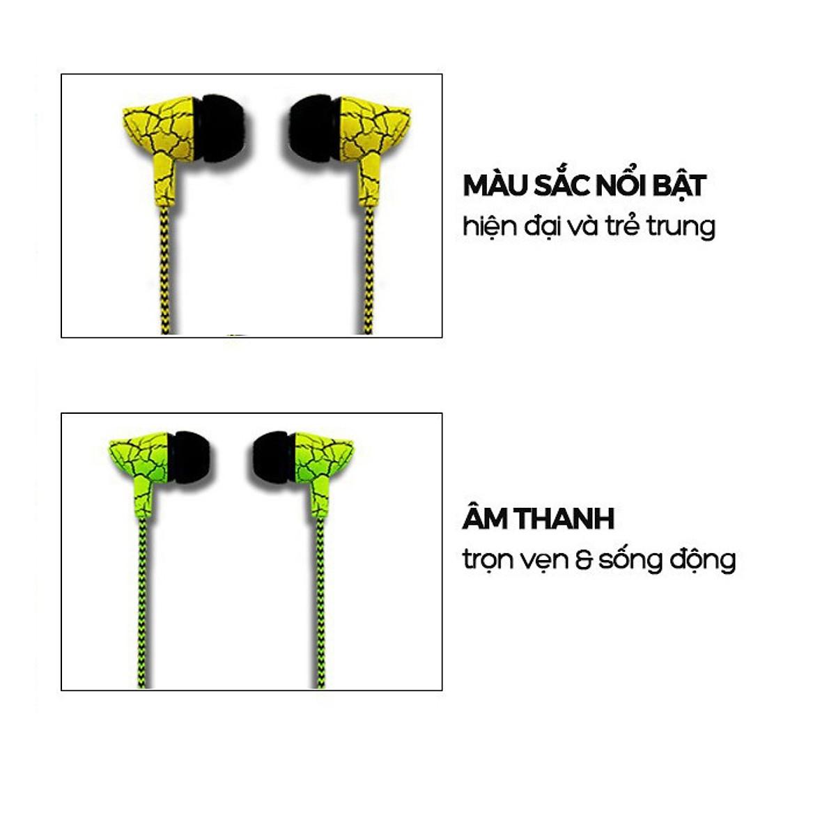 Tai Nghe Nhét Tai Có Mic LAPU LP-T9 Super Bass - Hàng Nhập Khẩu