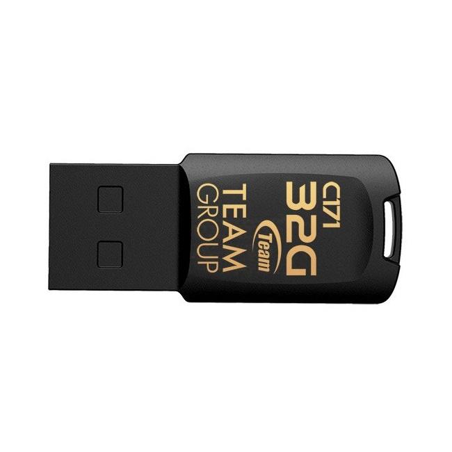 USB 32GB C171 Team Taiwan chống shock, chống nước (Đen) - Hàng Chính Hãng