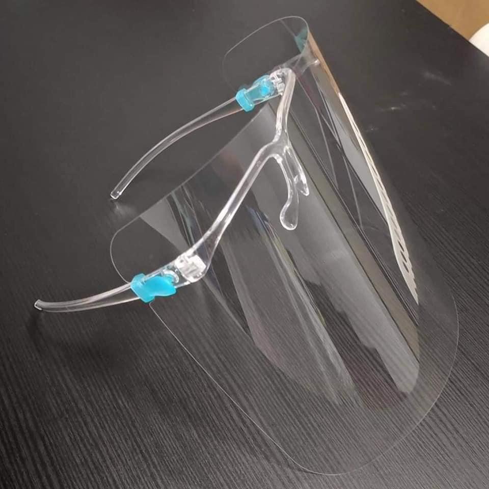 [Face shield] Mặt Nạ Kính Bảo Hộ Đa Năng chống bụi, kính che mặt chống giọt bắn phòng Covid bằng nhựa PVC loại cứng