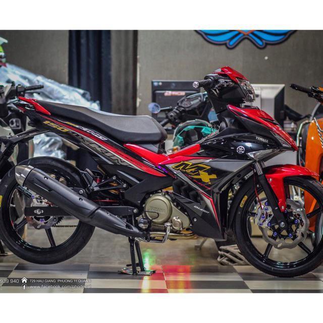 Tem rời dành cho xe máy Mx Exciter 150 đỏ đen (bộ)