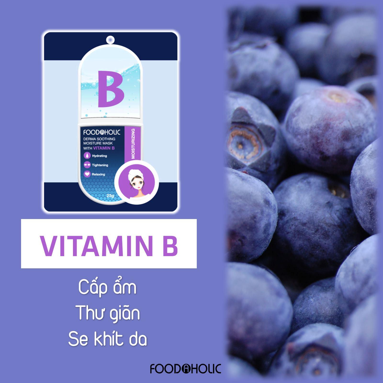 Combo 10 mặt nạ Vitamin dành cho da mụn (Vitamin B,D,E,K) 3D Foodaholic Essential 23g