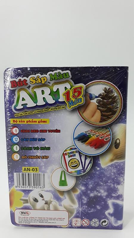 Bút Sáp Màu WinQ ART AN-03 (15 Màu)