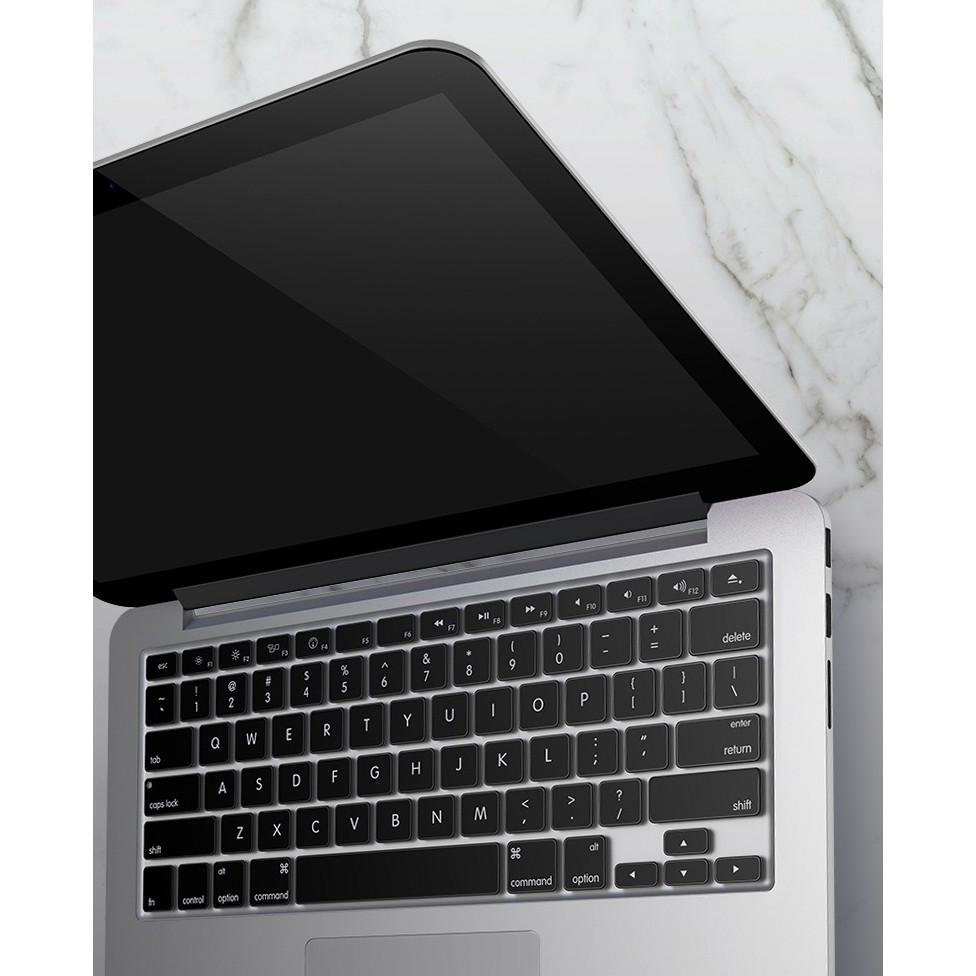 Miếng phủ Silicon màu Đen bảo vệ bàn phím cho Macbook nhiều phiên bản