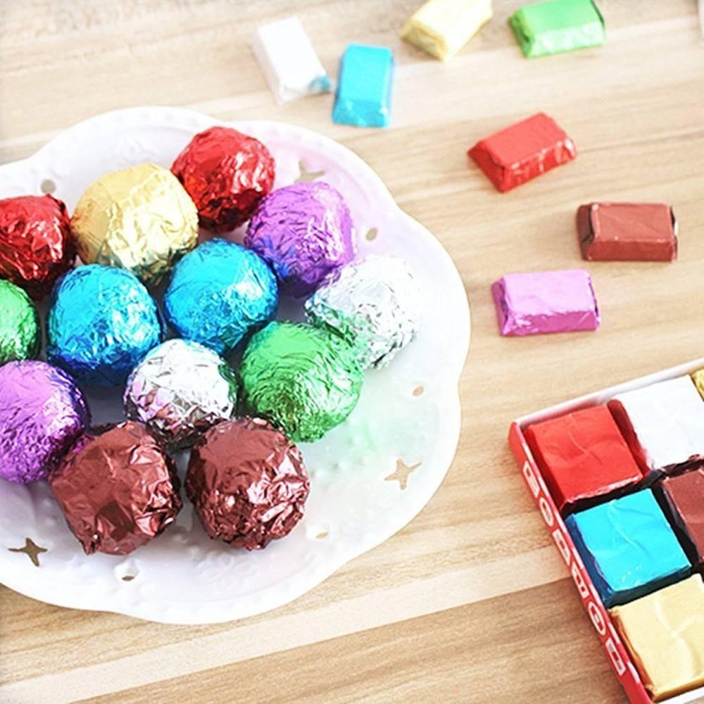 ✿✿✿Giấy Bạc Bọc Kẹo Socola 10*10cm (Tập 100 chiếc)✿✿✿