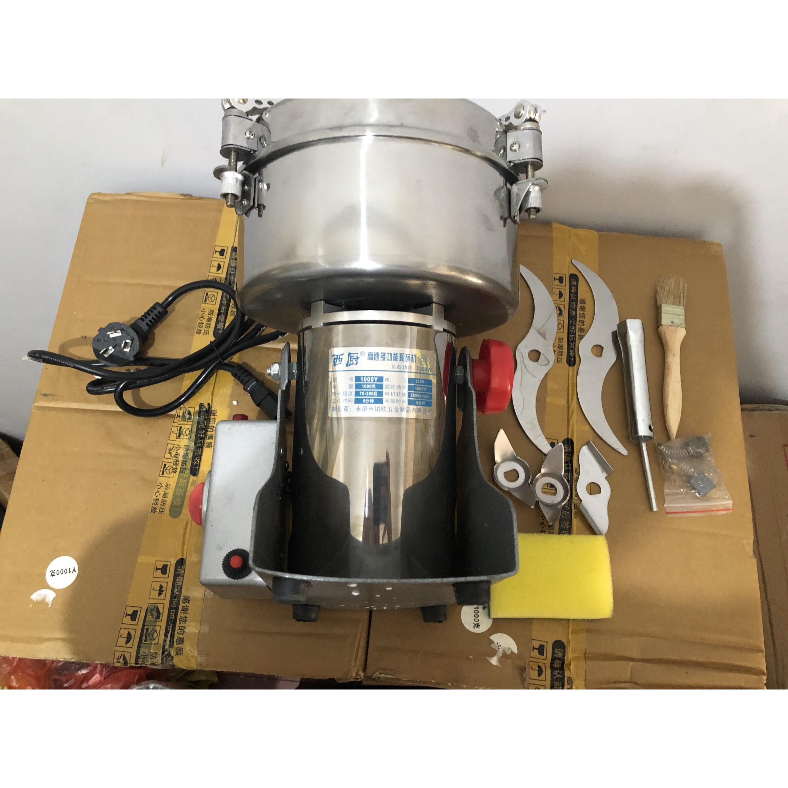 Máy xay thuốc nam 1kg/mẻ (công suất 3200W)