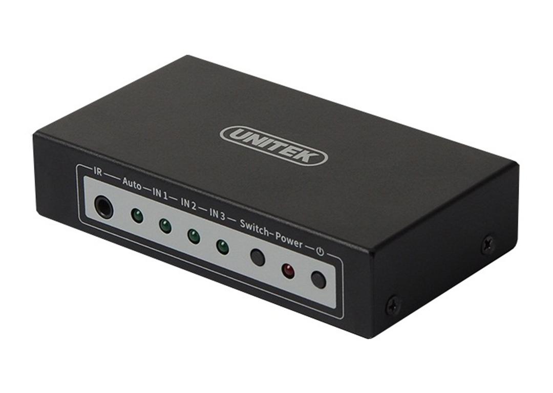 Bộ gộp HDMI 3 HDMI vào 1 màn hình 4K UNITEK Y-5312A - MULTI HDMI 3-1 4K UNITEK (Y-5312A) - Hàng chính hãng