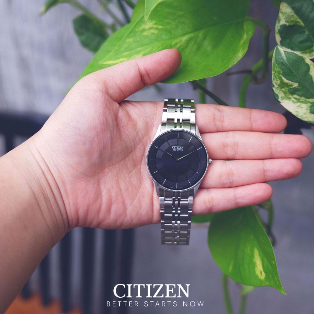 Đồng Hồ Nam Citizen Siêu Mỏng Dây Thép Không Gỉ AR3010-65E - Mặt Đen (Sapphire)