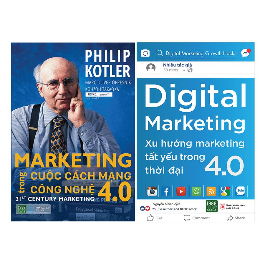 Combo Digital Marketing – Xu Hướng Marketing Tất Yếu Trong Thời Đại 4.0 + Marketing Trong Cuộc Cách Mạng Công Nghệ 4.0 ( 2 Cuốn )