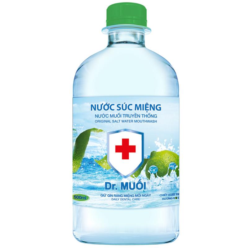 Nước súc miệng Dr. Muối hương vỏ chanh (500ml)