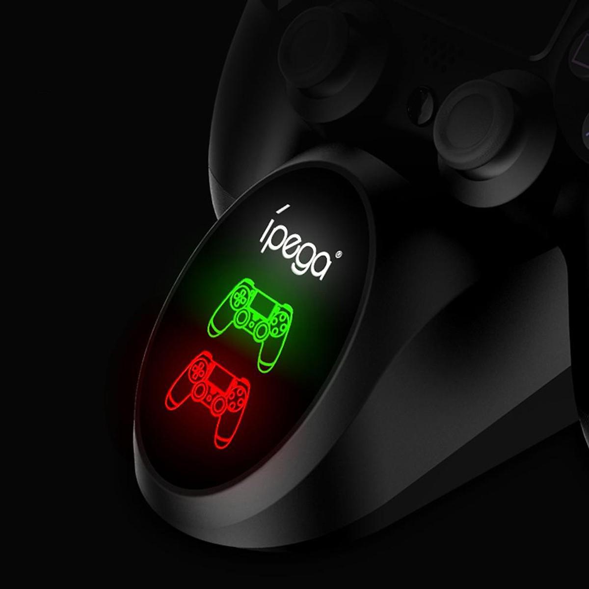 Đế sạc cho 2 tay cầm PS4 Slim/ Pro có led báo hiêu - iPega 9180