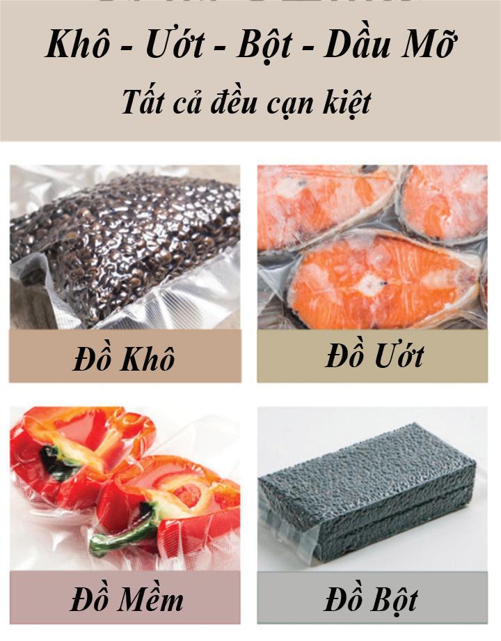 Máy hút chân không công nghiệp để bàn Mini hút khô, ướt, mọi loại thực phẩm đóng gói chân không Hàng Chính Hãng