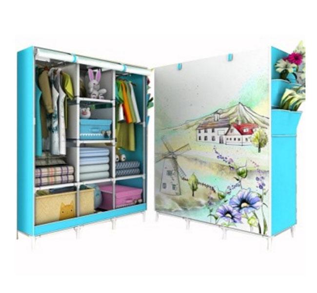 Tủ vải quần áo 3D 3 buổng 8 ngăn cao cấp