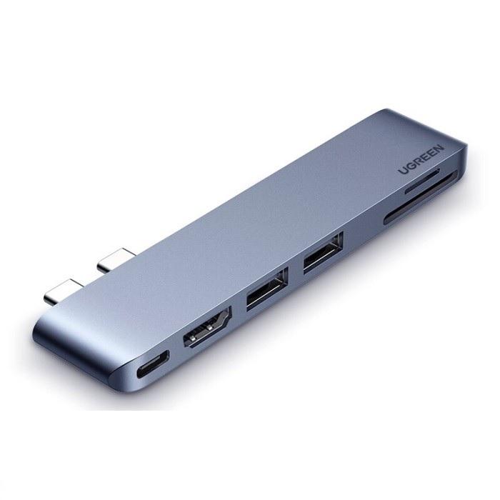Hub type c thunderbolt 3 dành cho macbook pro 8k HDMI - PD - Sd- TF - 2 x Usb A 3.0 màu xám Ugreen 380MB80856CM  hàng chính hãng