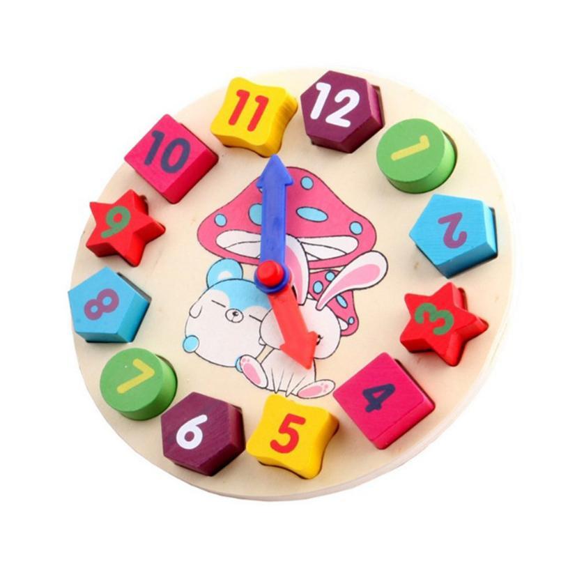 Đồ chơi đồng hồ gỗ hình khối chính hãng - cỡ nhỏ