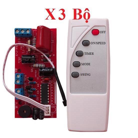 Combo 03 bộ mạch quạt điều khiển từ xa - LOẠI 1 CÓ IC BẢO VỆ - BẢO HÀNH UY TÍN 1 ĐỔI 1