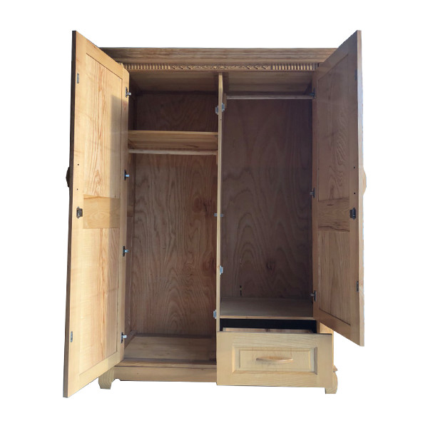 Tủ quần áo gỗ sồi 2 cánh
