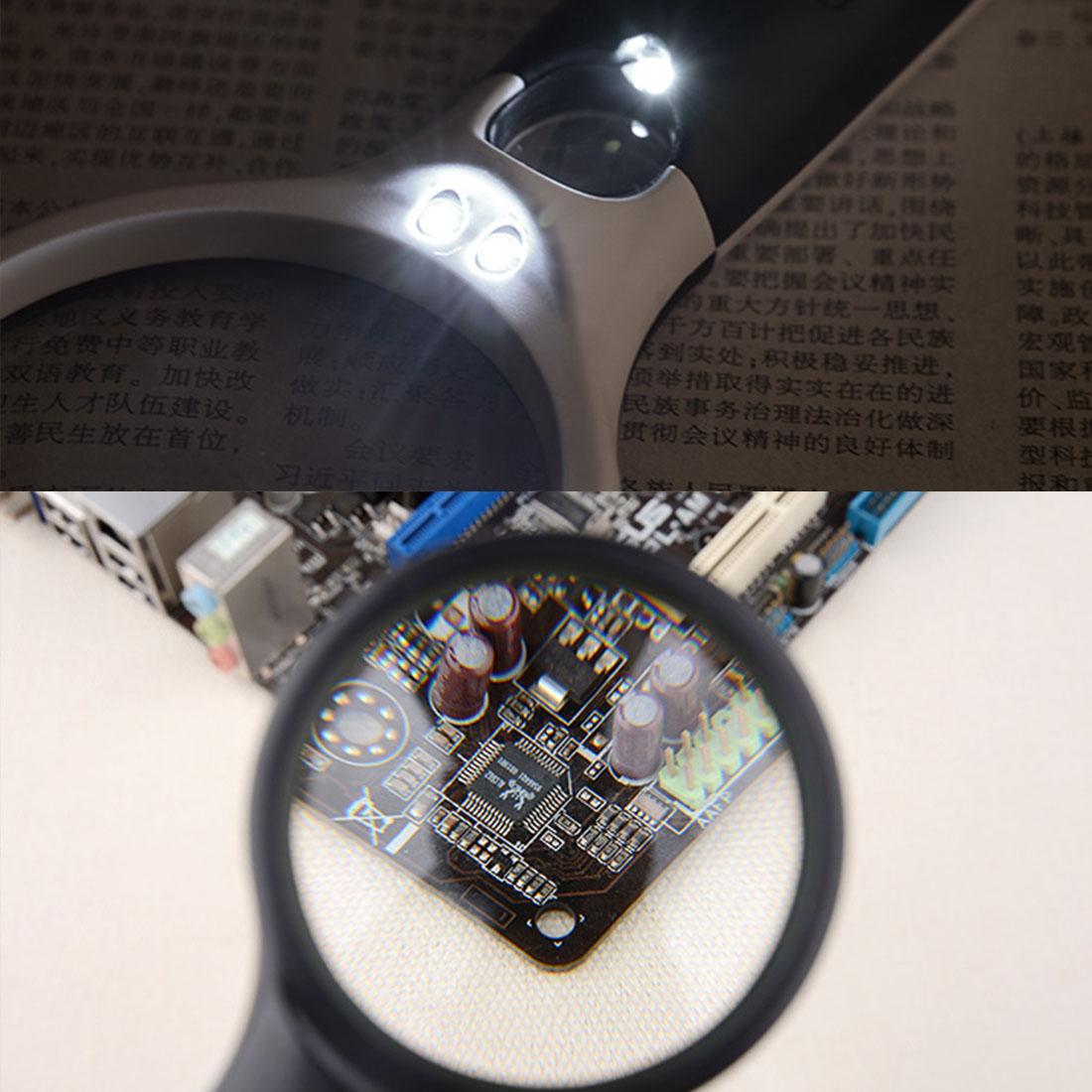 Kính lúp cầm tay có đèn phóng đại 3X - 45X