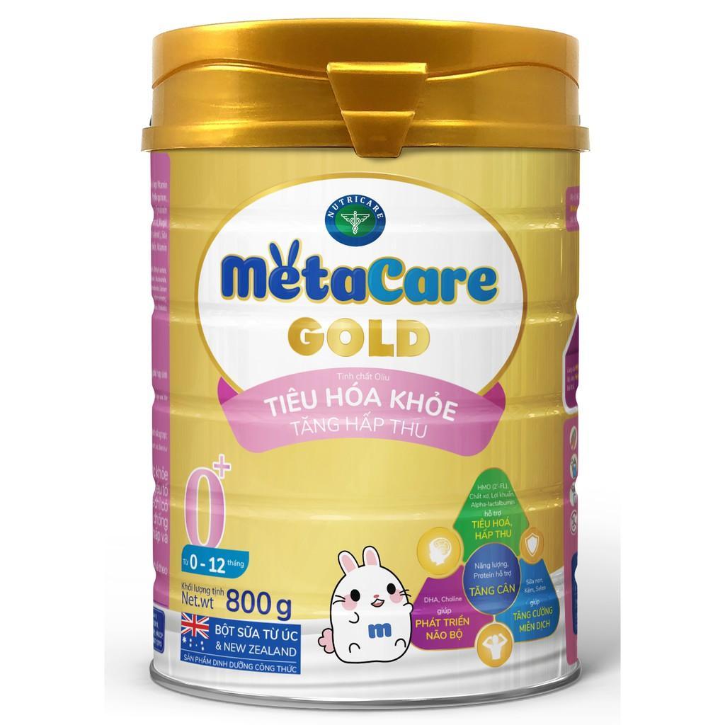 Sữa bột Nutricare Metacare GOLD 0+ - Tiêu hoá khoẻ, tăng hấp thu (800g)