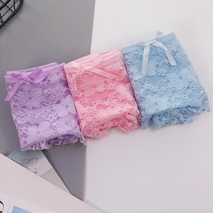 Set 2 Quần lót nữ, quần lót ren cotton siêu mềm ZBra - ZQ3808 5