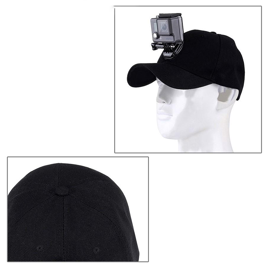 Mũ thời trang gắn Action Camera / HÀNG CHÍNH HÃNG PU195