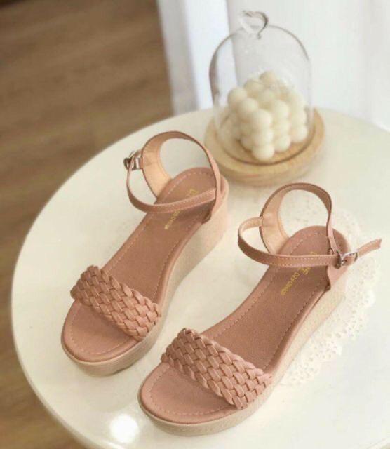 Sandal nữ đế xuồng 5p siêu nhẹ êm chân quai tết xinh xắn - DX6