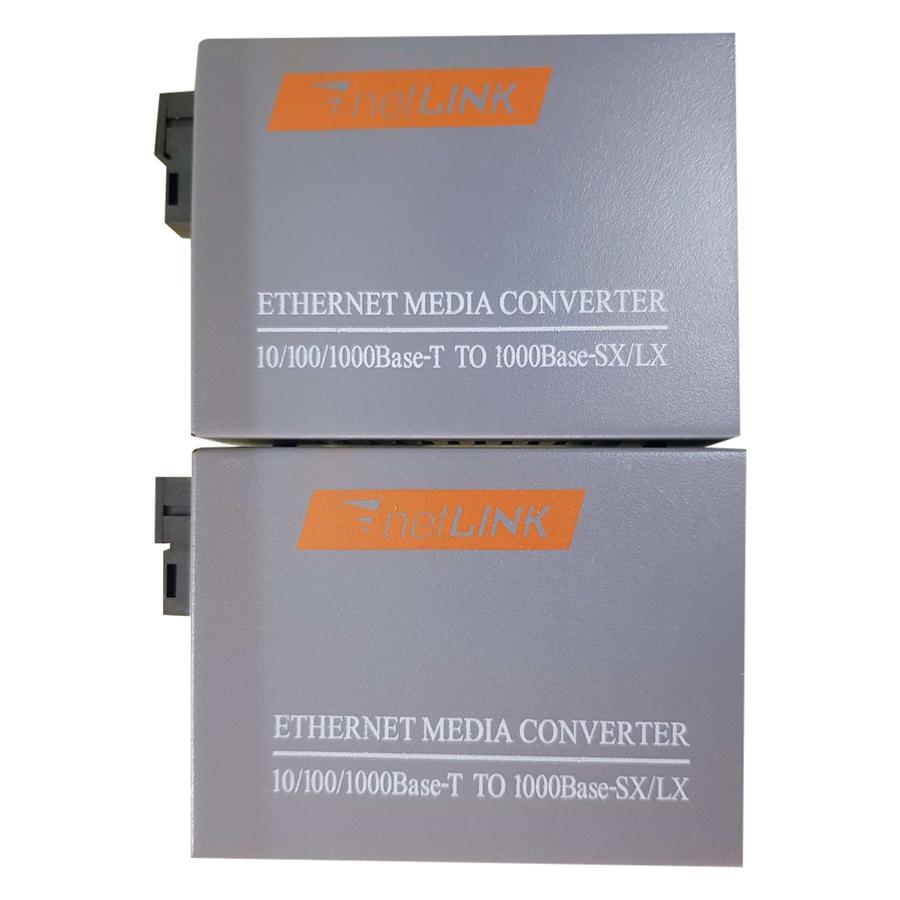 Cặp Converter Quang 1000mb (1gb) - Netlink  Single Mode 1 Sợi Quang - Hàng Chính Hãng