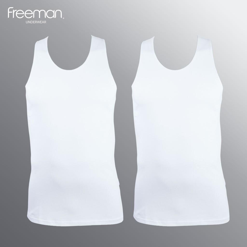 Áo thun nam ba lỗ viền áo mỏng cotton FREEMAN ASF207 [Combo 2]