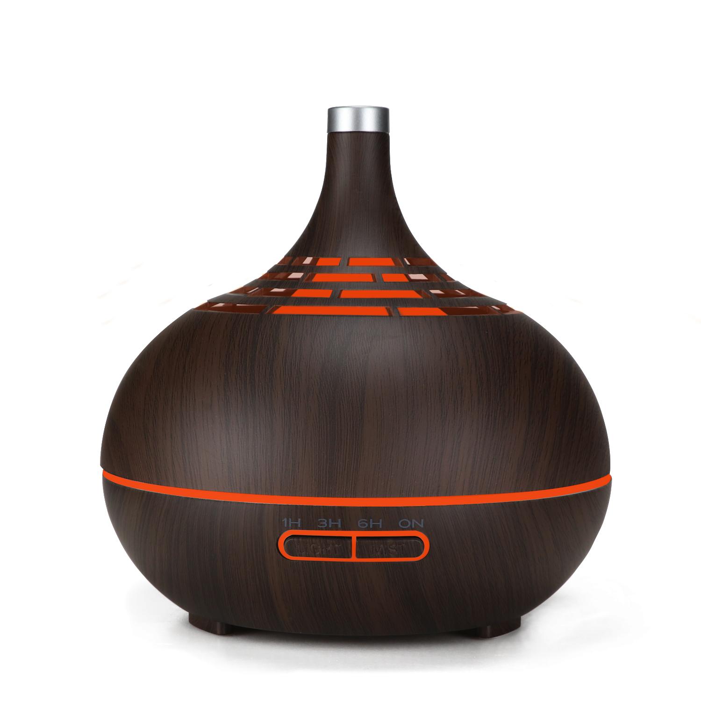 Máy khuếch tán tinh dầu lồng đèn 2020 - nâu đen (Tặng 2 chai tinh dầu nhập kèm theo)